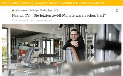 """""""Die letzten zwölf Monate waren schon hart."""" Interview mit der Rheinischen Post. Vorstandsvorsitzender Holger Weiss über die aktuelle Lage und Zuversicht im HTV."""