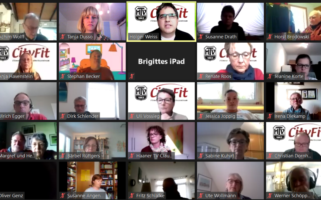 Erste Online-Mitgliederversammlung beim HTV Erstmals haben wir in Folge der anhaltenden Covid-19-Pandemie die jährliche Mitgliederversammlung am 3. Mai als virtuelle Online-Versammlung durchgeführt.